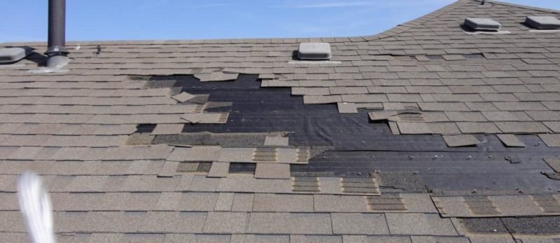 wind damage roof